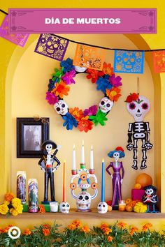 📜🗝Cool DIY inspiration for rooms? - 📜🗝Cool DIY inspiration for rooms? Halloween 2019, Fall Halloween, Halloween Crafts, Halloween Decorations, Halloween Party, Sugar Skull Halloween, Day Of The Dead Diy, Day Of The Dead Party, Upcycle Home