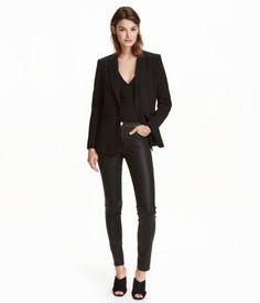 Superstretchbroek | Zwart/coating | Dames | H&M NL