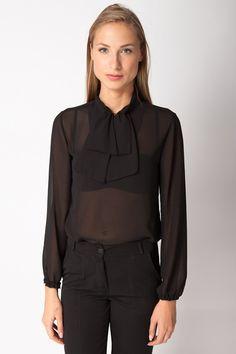 Jabot Collar Sheer Blouse  http://jessyss.com/clothing/tops/jabot-collar-sheer-blouse.html?barva=