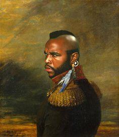 Mr. T Celebrities as Neoclassical Paintings