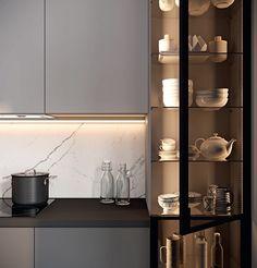 Kitchen Cupboard Designs, Kitchen Room Design, Diy Kitchen Storage, Kitchen Cupboards, Modern Kitchen Design, Living Room Kitchen, Home Decor Kitchen, Interior Design Kitchen, Home Kitchens