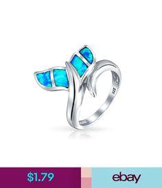 Blue Opal 925 Silver Women Mermaid Tail Jewelry Wedding Engagement Ring Sz 6-10 #ebay #Fashion