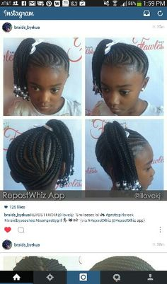 Braids=every black girls signature childhood hair style:)