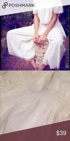 BNWOT FREE PEOPLE MISS STELLA GAUCHO PANTS FREE PEOPLE MISS STELLA GAUCHO PANTS. Bright white, elastic waist, super flared gauzy Gaucho pants with raw hem. Pockets. Double lined but still somewhat sheer. BNWOT. Free People Pants