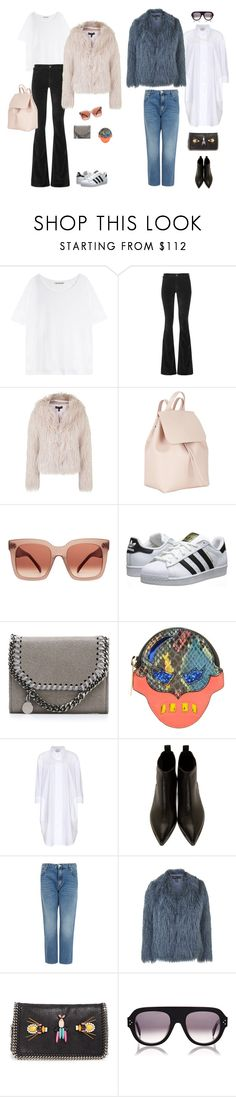 """#16"" by jennybecker on Polyvore featuring Acne Studios, MiH Jeans, Topshop, Mansur Gavriel, CÉLINE, adidas Originals and STELLA McCARTNEY"