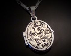 Art Nouveau Inspired Hand Engraved Sterling by JelliesJewelry