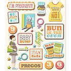 K&COMPANY STICKER MEDLEY FIRST CHILD PREGNANCY BABY MATERNITY SCRAPBOOK STICKERS