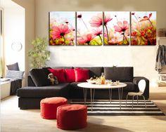 4 панель современные печатные стенная роспись цветок картина холстины Cuadros стены искусства домашнего декора для гостиной без рамки PR193купить в магазине XuanYi Home Arts co., LtdнаAliExpress