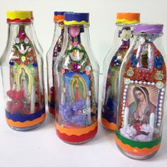 Guadalupe in a Bottle Shrine