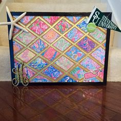 Lilly Pulitzer Inspired Cork Board by Custom410Creations on Etsy