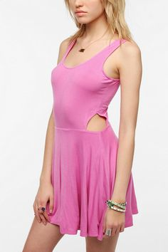 Lucca Couture Knit Side Cutout Skater Dress #urbanoutfitters