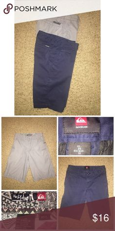 Quicksilver Shorts Bundle Pre•loved Quicksilver Shorts Bundle. The Gray shorts are a size 8. The Navy ones are a size 10, but run small. Both are Cotton. EUC Quicksilver  Bottoms Shorts