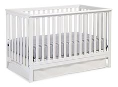 Amazon.com : Stork Craft Hillcrest Fixed Side Convertible Crib, Gray : Baby