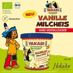 """""""YAKARI Bio Vanille Milcheis von Helador * GLUTENFREI *"""""""