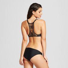 7b9916068a548 Women s Crochet Back Push Up Bikini Top - Black - L - Xhilaration Black Push  Up