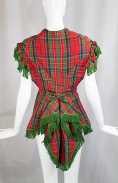 The workmanship is just spectacular! | 1880s 1870s vintage VICTORIAN antique red tartan by ritual vintage