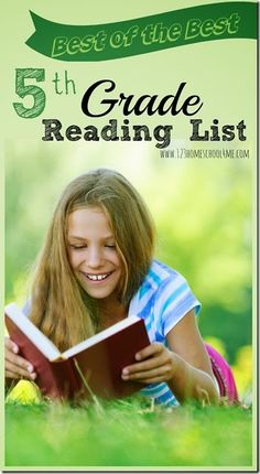 5th Grade Reading List - GREAT book list for 5th graders! Perfect for reading the best books for summer reading, homeschool, classrooms, and more. Love the free printable bookmark with the 5th grade reading list.