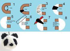 Panda pom-pom