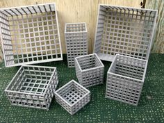 3D Printed Home Decor. Containers Composed of Squares by pmoews - Thingiverse