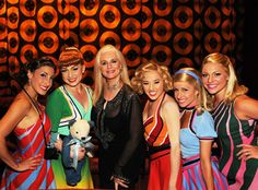 """Celeste Yarnall attended a performance of Viva ELVIS™ by Cirque du Soleil®, and stopped to pose for a photo with some of the show's performers. Celeste co-starred with Elvis in """"Live a Little, Love a Little."""