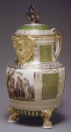 Italy Porcelain — Coffee Pot, 1795-1800 :The Metropolitan Museum of Art  (534x981)