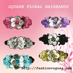 New arrival in fashion vogues. Buy the designed sequence floral hairband on sale price.....  http://tinyurl.com/kbncfa7
