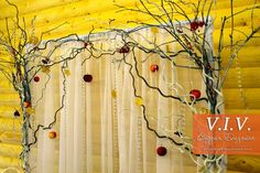 autumn wedding decorations / autumn arch / back autumn