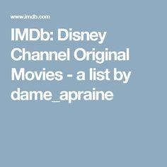 IMDb: Disney Channel Original Movies - a list by dame_apraine