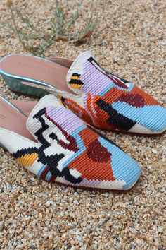 Rachel Comey Wald Eyes Needlepoint Embroidery