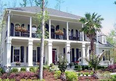 Delightful Stacked Porches