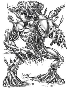 Jidra- middle eastern myth: A plant creature that is permanently attached to soil. It is extremely fierce and carnivorous eating anything that comes near including plants, animals and men. The only way to kill the monster is to hack at its roots and when killed it screams in pain. The bones, when powdered and added to wine, it becomes a powerful antidote.