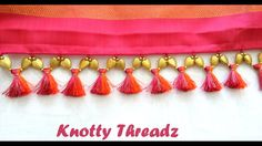 How to make Double Colored Saree Kuchu / Tassels using Silk Thread and B...