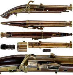 "Japanese matchlock pistol with a brass or bronze (""ho-kin"") barrel, diameter:1.3cm, barrel:21.5cm, length37.0cm., no signature."