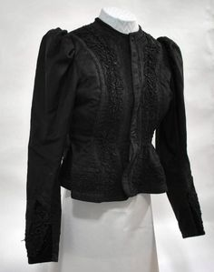 Black jacket of the German minority's folk costume from the vicinity of Havlíčkův Brod (Czech lands). Muzeum Vysočiny, Havlíčkův Brod