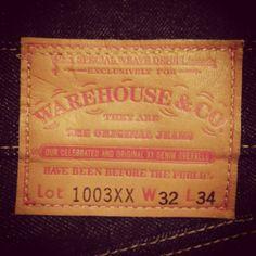 Warehouse 1003XX. (denim, indigo, selvage, made in japan, workwear, ww2)