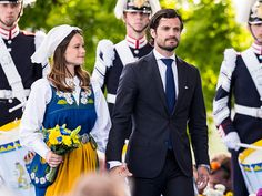 Prince Carl Phillip and Princess Sofia of Sweden participate in a ceremony celebrating Sweden's national day at Skansen on June 6 2015 in Stockholm...