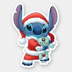 Lelo And Stitch, Lilo Y Stitch, Cute Stitch, Wallpaper Iphone Disney, Cute Disney Wallpaper, Christmas Stickers, Disney Christmas, Cute Christmas Wallpaper, Homemade Stickers