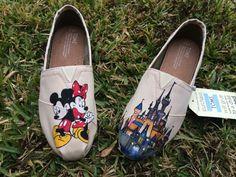 Custom Hand Painted Disney Toms- Disney Trip Shoes- Custom Disney Clothing