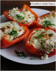 Cauliflower Stuffed Peppers