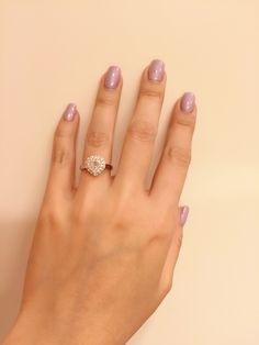 Fancy pink diamond heart ring