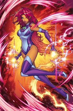 Teen Titans Starfire concept art DC Rebirth - Visit to grab an amazing super hero shirt now on sale! Teen Titans Starfire, Nightwing And Starfire, Teen Titans Go, Starfire Comics, Arte Dc Comics, Dc Comics Art, Comics Girls, Dc Comics Women, Dc Rebirth