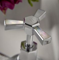 Heritage Bathrooms Limited Edition Gracechurch taps with Mother of Pearl inlay Heritage Bathroom, Old Bathrooms, Basin Taps, Mother Pearl, Soap Dispenser, Can Opener, Photo And Video, Pearls