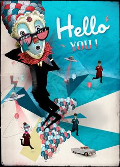 Artwork for HELLO BANK // BNP PARIBAS One of the winners of the European contest curated by PUBLICIS Agency and Curioos E-Shop.