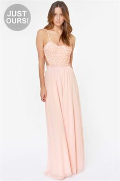 Pink chiffon dress maxi dress long dress plus by originalstyleshop ...