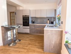 From German handleless kitchens to bespoke painted in-frame kitchens, browse our ranges and pick your style. Kitchen In, Kitchen Ideas, Handleless Kitchen, Moonlight, Grey, Table, Furniture, Home Decor, Gray