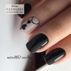 Black Nails With Pink Are you looking for lovely nail art designs that are excellent for Valentine's Day? See our collection full of cute ideas and get inspired!Do you know why so many people are in love with the burgundy color? Nail Swag, Stylish Nails, Trendy Nails, Cute Acrylic Nails, Cute Nails, Nail Deco, Hair And Nails, My Nails, Nagellack Trends