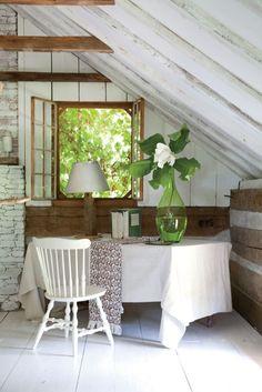 Shabby little corner of the attic.