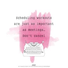 Plan your workouts, plan success!
