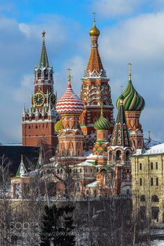 """Basil's Cathedral by majesticphoto"""" City Architecture, Moscow, Barcelona Cathedral, Russia, St Basil's, Building, Amazing, Travel, Costume"""