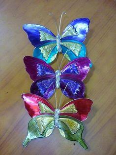 Juego de mariposas, hermosos colores